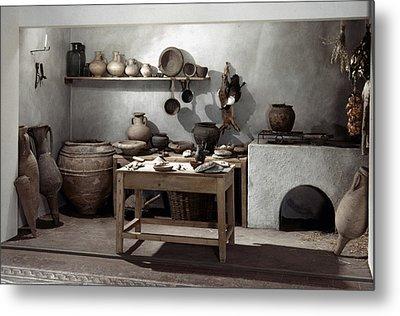 Roman Kitchen, 100 A.d Metal Print by Granger
