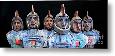 Metal Print featuring the photograph Roman Warriors - Bust Sculpture - Roemer - Romeinen - Antichi Romani - Romains - Romarere by Urft Valley Art