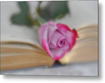 Metal Print featuring the photograph Romantic Read by Diane Alexander
