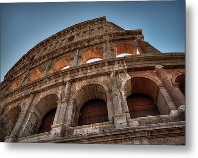 Metal Print featuring the photograph Rome - The Colosseum 003 by Lance Vaughn