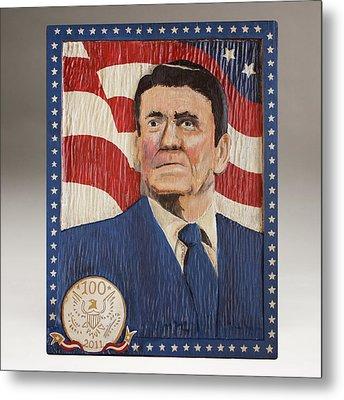 Ronald Reagan Centennial Celebration Metal Print by James Neill