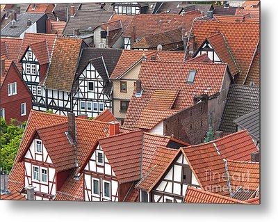 Roofs Of Bad Sooden-allendorf Metal Print by Heiko Koehrer-Wagner