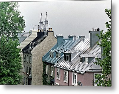 Metal Print featuring the photograph Rooftops by John Schneider