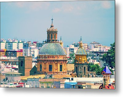 Rooftops Of Seville - 1 Metal Print by Mary Machare