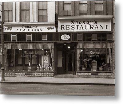Rooney's Restaurant Wilkes Barre Pa 1940s Metal Print