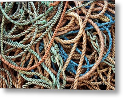 Rope Background Metal Print