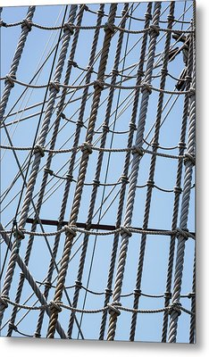 Metal Print featuring the photograph Rope Ladder by Dale Kincaid