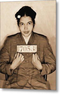 Rosa Parks Mugshot Metal Print by Dan Sproul
