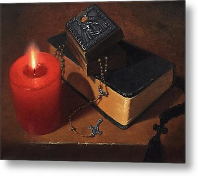 Rosary Meditation Metal Print by Timothy Jones