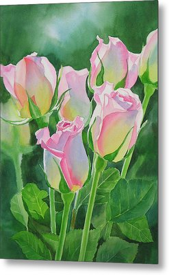 Rose Array Metal Print by Sharon Freeman