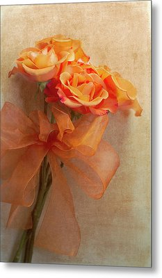 Rose Bouquet Metal Print by Rebecca Cozart