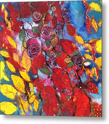 Rose Garden Metal Print by Alessandro Andreuccetti