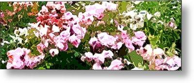 Rose Garden Mirage  Metal Print by Linda Mears