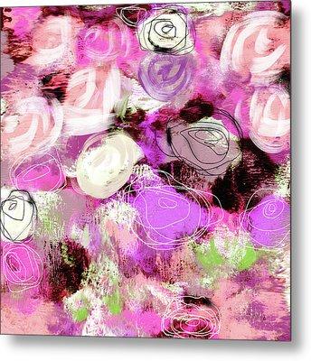 Rose Garden Promise- Art By Linda Woods Metal Print