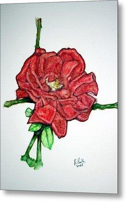 Rose Study No 1 Metal Print by Edward Ruth