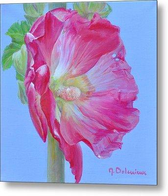 Rose Tremiere Metal Print by Muriel Dolemieux