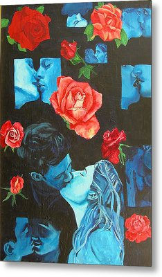Roses And Kisses Metal Print