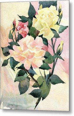 Roses Metal Print by Natalia Eremeyeva Duarte
