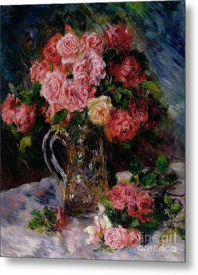 Roses Metal Print by Pierre Auguste Renoir