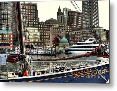 Roseway Boston Metal Print by Adrian LaRoque
