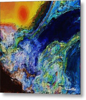 Rough Seas Metal Print by Andrea N Hernandez