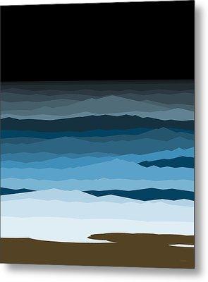 Rough Seas Metal Print by Val Arie