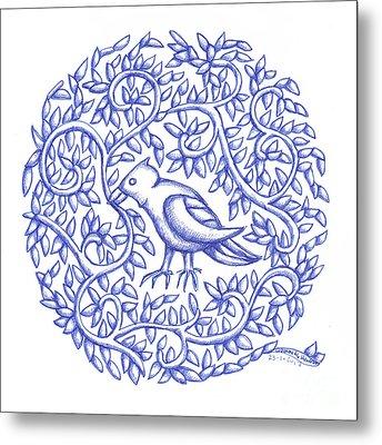 Round Bird January 17 Metal Print