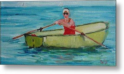 Rowing Away Metal Print by Irit Bourla