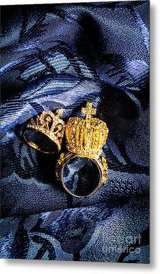 Royal Blue Couple Metal Print