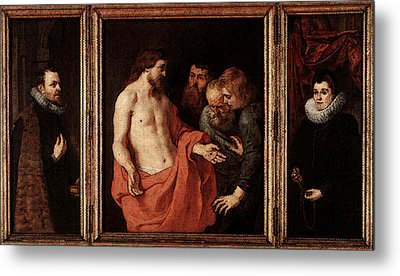 Rubens The Incredulity Of St Thomas Metal Print