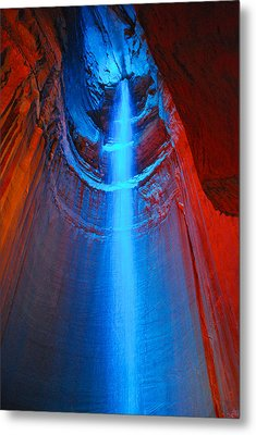 Ruby Falls Waterfall 3 Metal Print by Mark Dodd