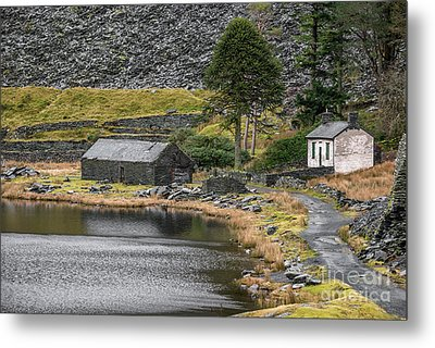 Metal Print featuring the photograph Ruins At Cwmorthin by Adrian Evans