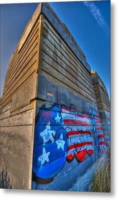 Ruins Graffiti Metal Print by Mike Horvath