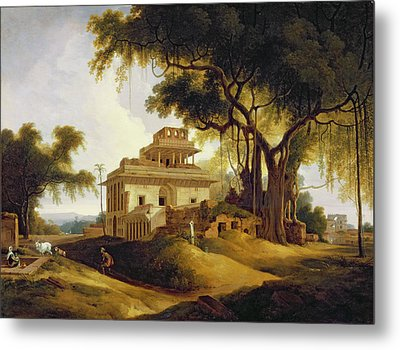 Ruins Of The Naurattan Metal Print by Thomas Daniell