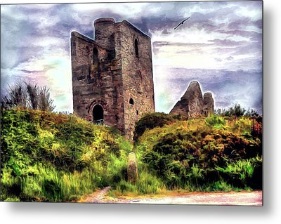 Ruins Of The Old Tin Mine Metal Print