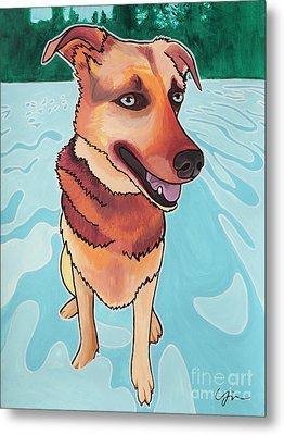 Rukia The Shepherd Dog Metal Print by Miabella Mojica
