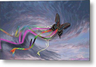 Runaway Kite Metal Print