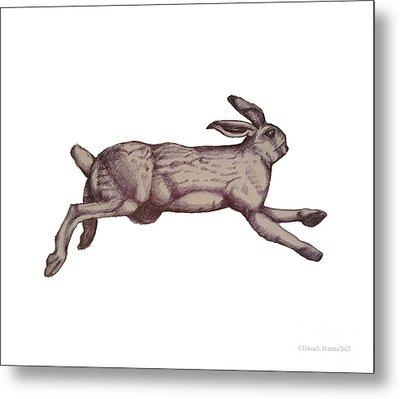 Running Bunny Jan 27 Metal Print