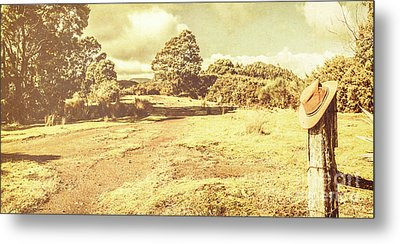 Rural Australia Panorama Metal Print