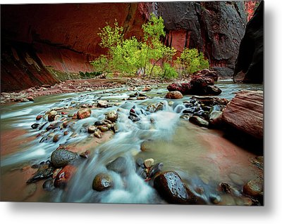 Rush At Narrows Metal Print by Edgars Erglis