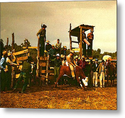 Russell Lee's Rodeo Metal Print by Timothy Bulone