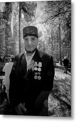 Metal Print featuring the photograph Russian Afghanistan War Veteran by John Williams