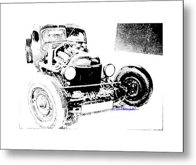 Russian Rat Rod Metal Print by MOTORVATE STUDIO Colin Tresadern