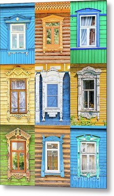 Metal Print featuring the photograph Russian Windows by Delphimages Photo Creations