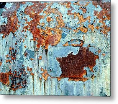 Rust - My Rusted World - Train - Abstract Metal Print