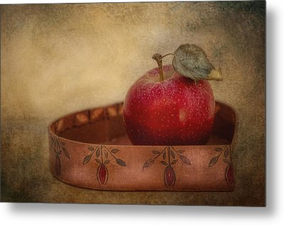 Rustic Apple Metal Print by Robin-Lee Vieira