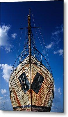 Rusting Boat Metal Print by Stelios Kleanthous