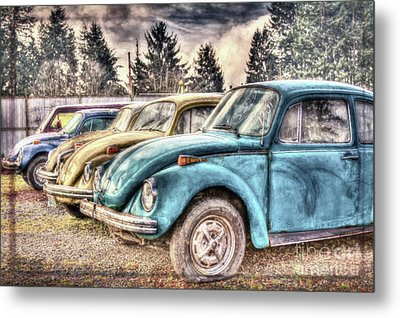 Metal Print featuring the photograph Rusty Bugs by Jean OKeeffe Macro Abundance Art
