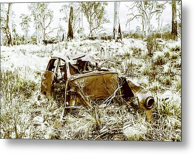 Rusty Old Holden Car Wreck  Metal Print