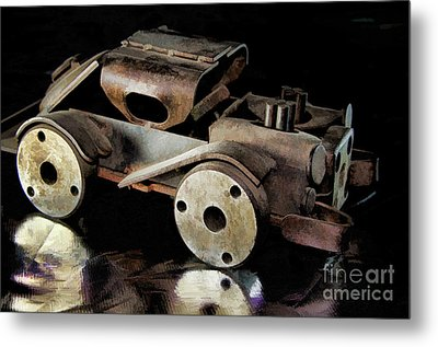 Rusty Rat Rod Toy Metal Print by Wilma Birdwell